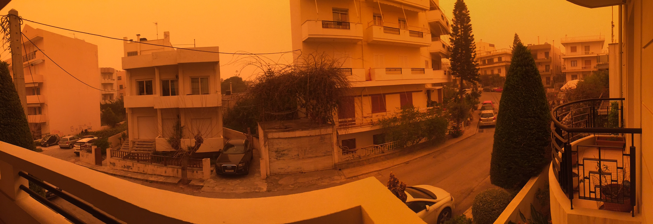 View from my balcony during the Sahara dust incident